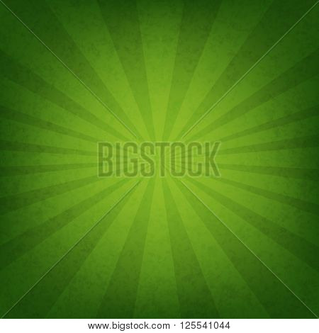 Green Sunburst Wallpaper With Gradient Mesh, Vector Illustration