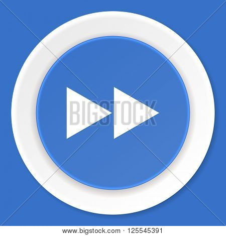 rewind blue flat design modern web icon