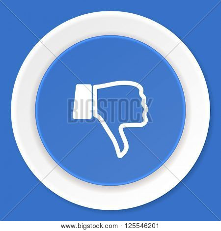 dislike blue flat design modern web icon