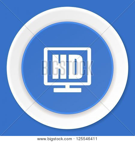 hd display blue flat design modern web icon