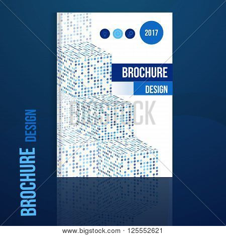Vector brochure design template with geometric abstract shapes.Business brochure design, flyer brochure design, professional corporate brochure design cover