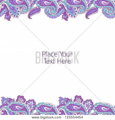 Abstract horisontal paisley border. Good  for page decoration, invitation, greetings cards  or announcements.