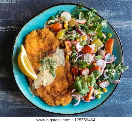 Served Fried Catfish Fillet