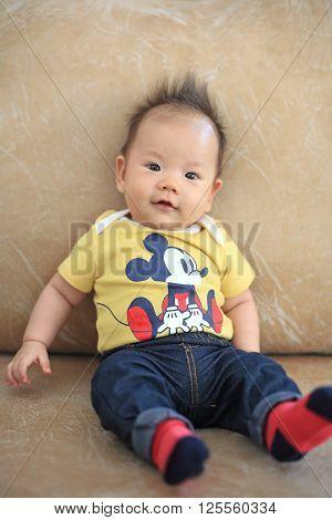 Portrait Of A Cute Smile Asian Boy