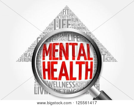 Mental Health Arrow Word Cloud