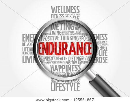 Endurance Word Cloud With Magnifying Glass