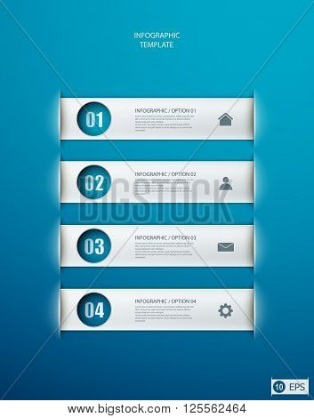 infographics options banner for workflow layout diagram number options web design. eps10 illustration