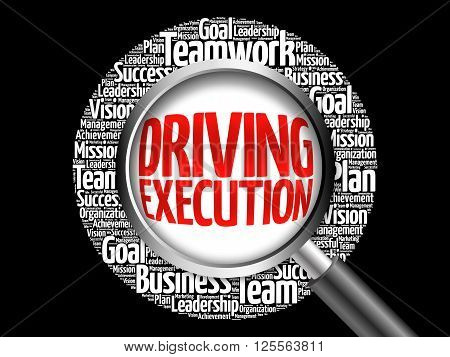 Driving Execution Word Cloud