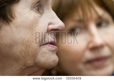 sad profile of grandma
