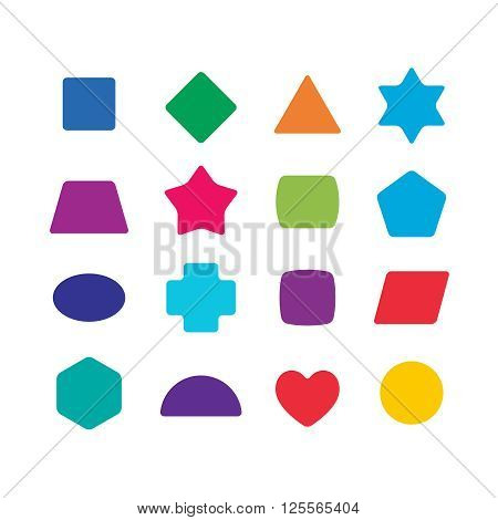 Learning Toys Color Shapes Set For Kids Education.