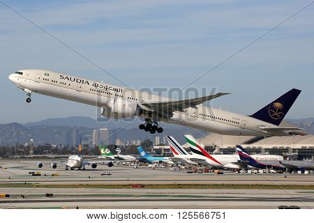 Saudia Boeing 777-300 Airplane