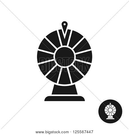 Wheel Of Fortune Black Icon Symbol. Simple One Color Sign.