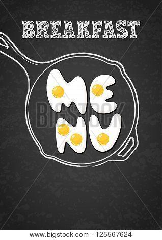 Vector Design Template For Breakfast Menu, Cafe, Restaurant.
