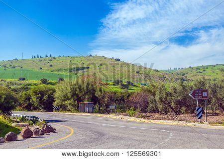 Landscape Around Galilee Sea - Kinneret Lake