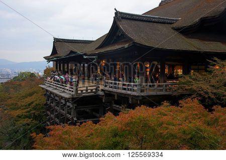 Kiyomizu-dera Temple With Autumn Foliage, Kyoto