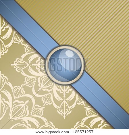 Retro background with ornament. Illustration 10 version