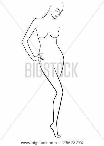 Abstract Graceful Female Figure