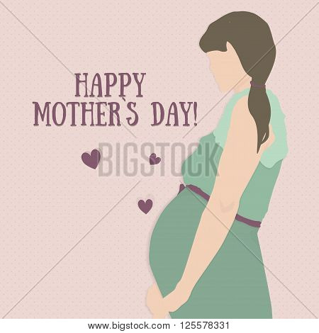 mothers day. Mothers day card. Mothers day background. Happy mothers day. Greeting card. Mothers day heart.
