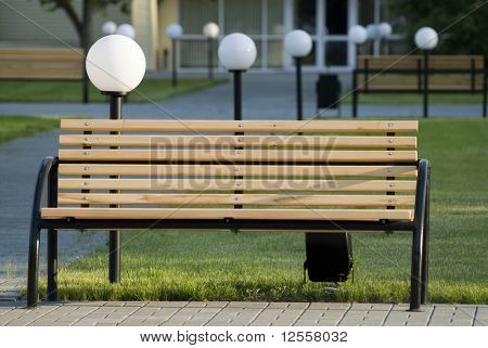 a place for rest in city park