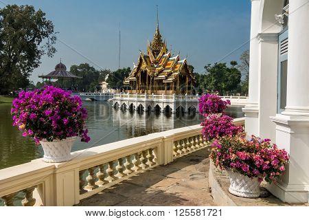 Bang Pa-In Palace Aisawan Thiphya-Art-Divine Seat of Personal Freedom, near Bangkok, Thailand