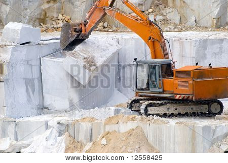 Extraction of a marble
