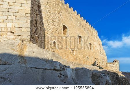 Detail Of Pope Luna's  Castle In Peniscola, Valencia, Spain.