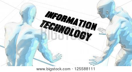 Information Technology Discussion and Business Meeting Concept Art 3D Illustration Render