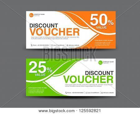 Discount Voucher template coupon design gift Voucher template