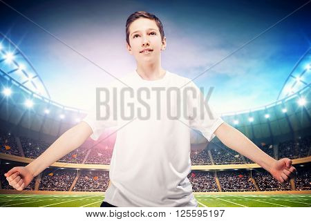Young Soccer Player Posing.