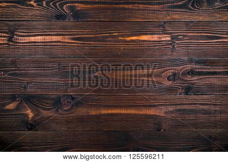 Vintage wooden background, cognac color, brushed and waxed