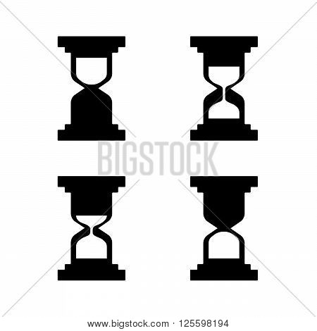 Hourglass icons set - Vector illustration eps 10