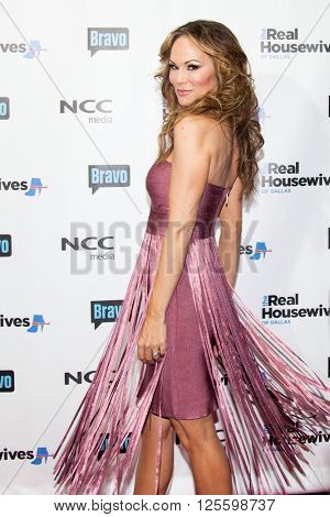 DALLAS, NY-APR 5: TV personality Tiffany Hendra attends The Real Housewives of Dallas premiere party at The Chandelier Room on April 5, 2016 in Dallas, Texas.