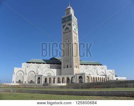 mosque hassan 2 in casablanca, morocco. islam' religion