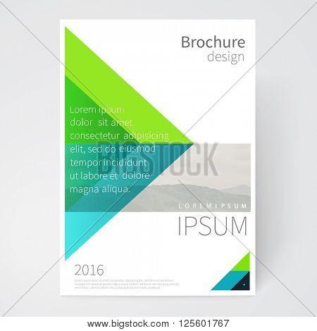 Brochure, leaflet, flyer, poster template. cover design. stock-vector abstract background. EPS 10