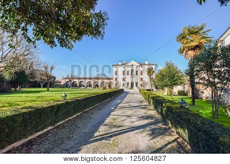 Verona Italy - March 29: 2015:Villa Bongiovanni open for a wedding fair on Verona Saturday March 29 2015. It was built in a neoclassical style in the eighteenth century by the Bongiovanni family.
