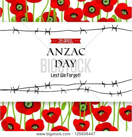 Commemorative Anzac background for design banner,ticket, leaflet and so on.Template page.
