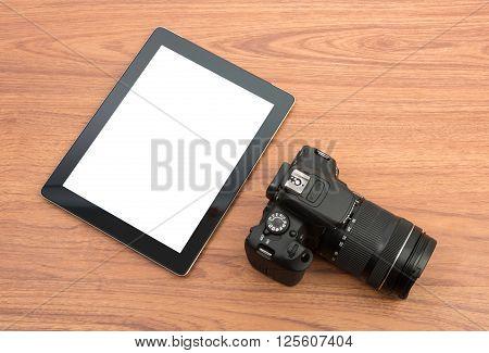 Dslr Digital Camera And Tablet