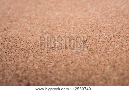 Close Up Blank Cork Wooden Board