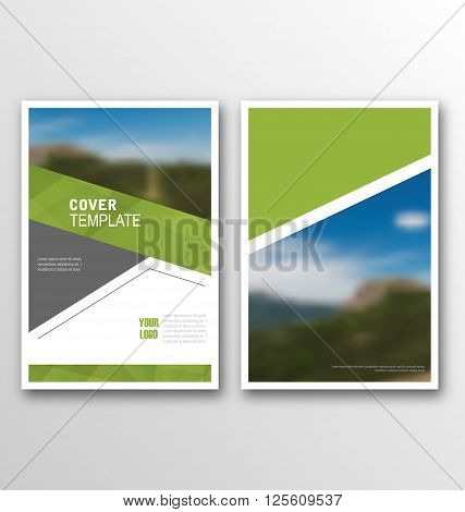 Abstract Cover Template, Design of Magazine or Newspaper, Cover Design Annual Report - Vector