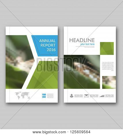Illustration Brochure Template Layout, Cover Design Annual Report, Design of Magazine or Newspaper, Flyer - Vector