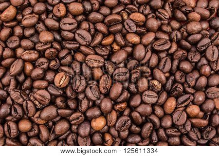 Full frame of coffee beans. Nice background