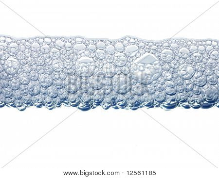 Foam isolated on white