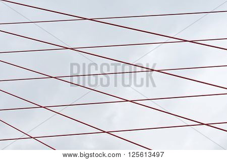 ropes, cable stayed bridge cables, Moscow Russia