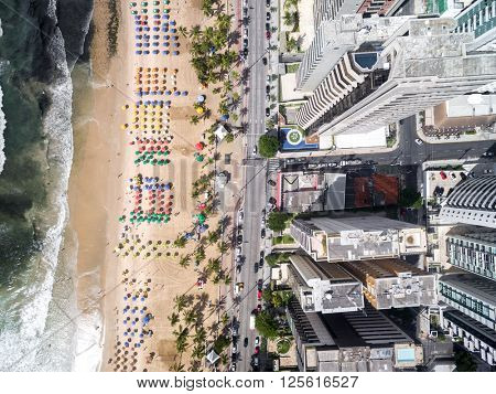 Top view of beach in Brazil