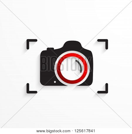 Vector Camera icon symbol , Camera emblem .