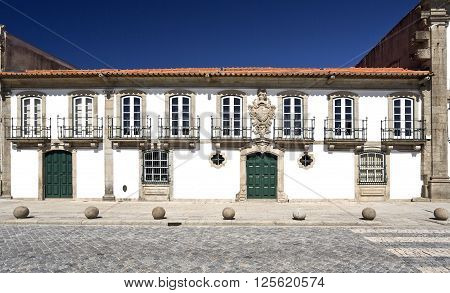 Known as Casa dos Vasconcelos it was constructed in the year 1770 and is today used as an auditorium by the city of Vila do Conde Portugal