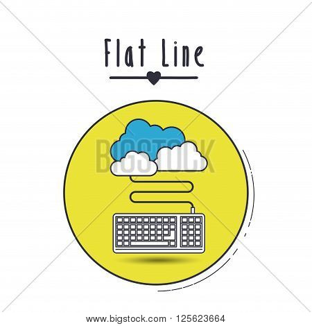 flat line icon design, vector illustration eps10 graphic