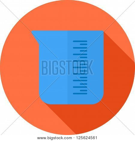 Beaker, experiment, glass icon vector image. Can also be used for stationery. Suitable for use on web apps, mobile apps and print media.