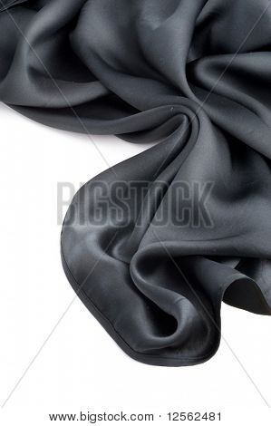 Natural Black Silk over White