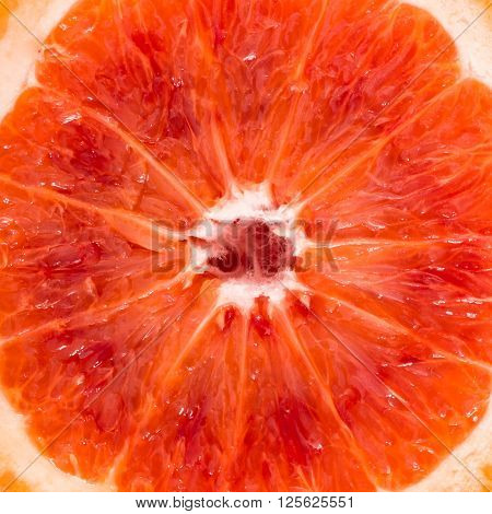 Close-up of red blood sicilian orange food background.